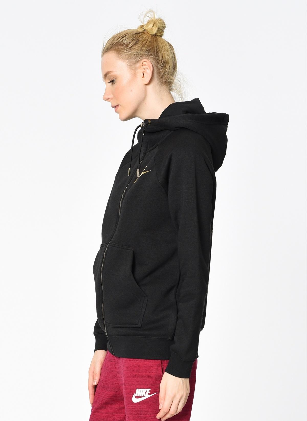 f62fe450b3885 Nike Kadın Kapüşonlu Fermuarlı Sweatshirt BLACK/BLACK   Morhipo ...